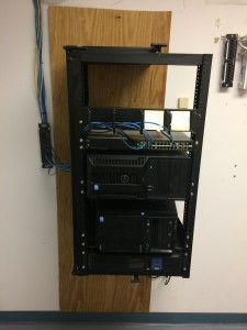Before and after photos of a small rack cleanup job in Freehold.
