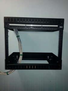 Voice and data rack installation
