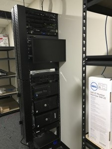 Shore office move voice and data rack